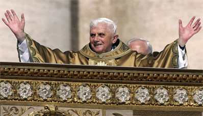 Pope Benedict Greets the Crowds in St. Peter's Square