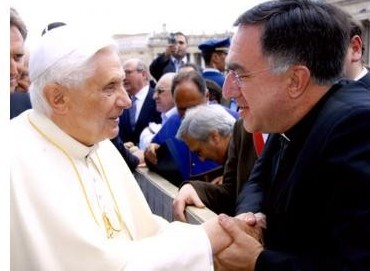 Pope Benedict greets Fr. Thomas Rosica, CEO of Salt + Light Television