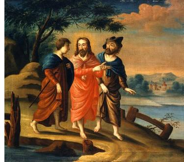 Road to Emmaus, American 18th Century