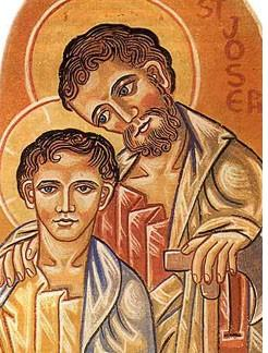St. Joseph and a Young Jesus, Icon