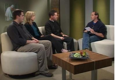 Pedro and his friends from the John Paul II Institute in Nova Scotia