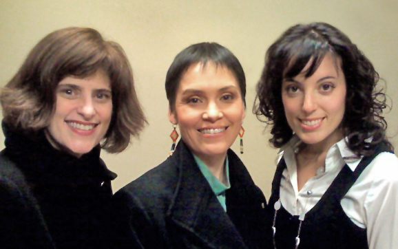 Suzanne Edmondson of Sunshine Dreams for Kids, Susan Aglukark and Michèle Nuzzo