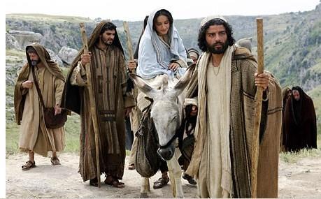 """From """"The Nativity""""; Joseph and Mary head to Bethlehem"""